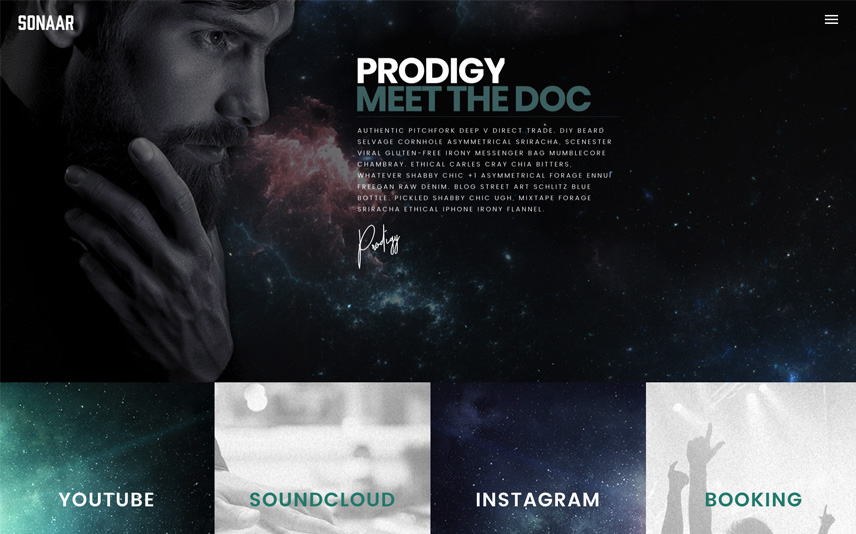 DJ Website Template