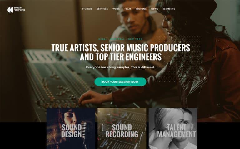 Thème WordPress pour Studio d'enregistrement et producteur de musique