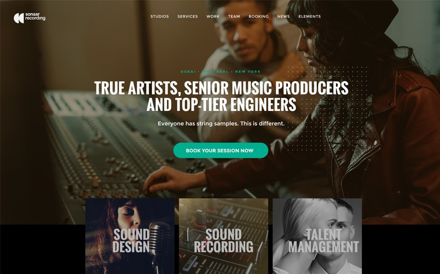Recording Studio and Music Producer WordPress Theme