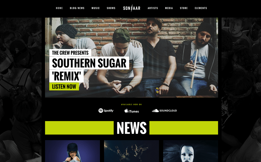 Best music wordpress themes and design templates sonaar wordpress theme for music bands maxwellsz