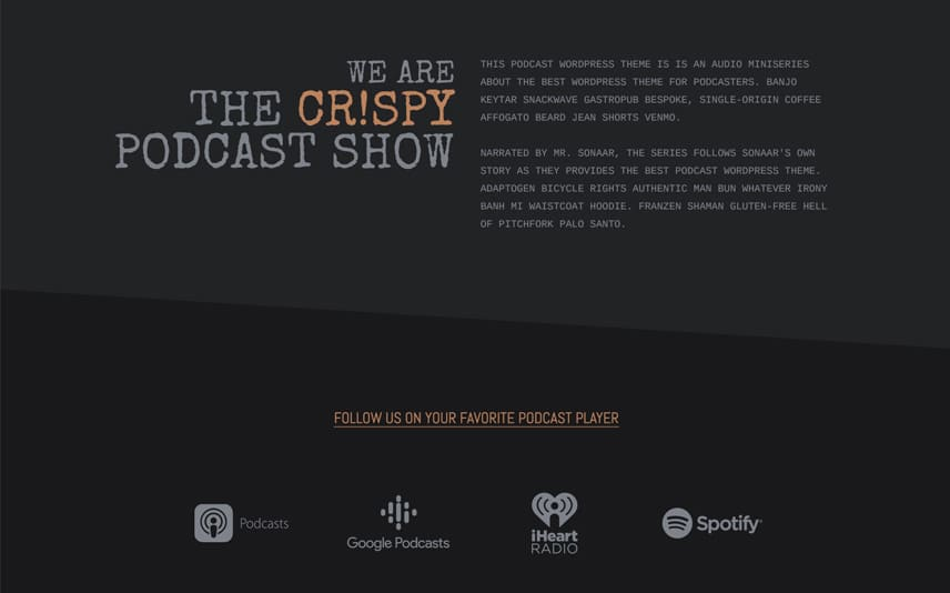Castopress - Podcast WordPress Theme