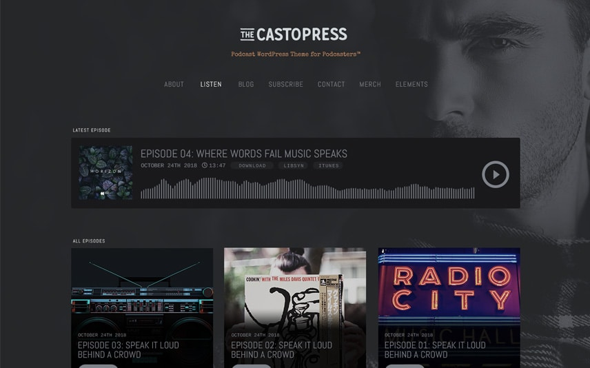 Castopress - WordPress theme for Podcasters