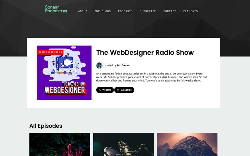 Podcast Show WordPress Theme