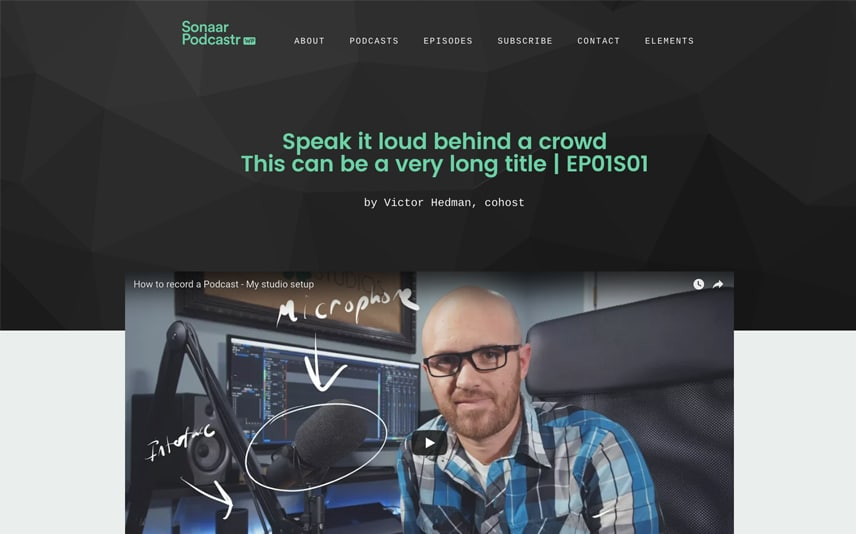 WordPress Podcast Theme with MP3, YouTube and Soundcloud