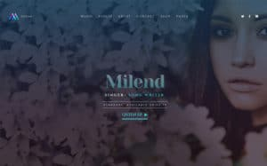 Milend - Musician WordPress Theme for Elementor