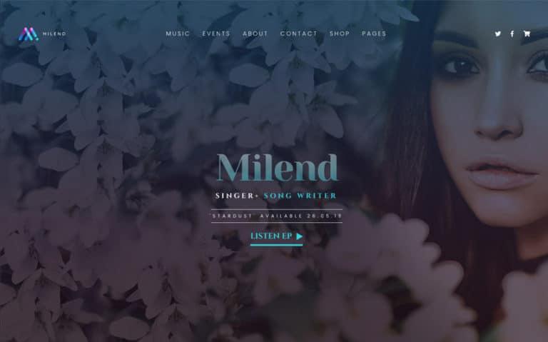 Milend - Thème WordPress Elementor pour Musiciens