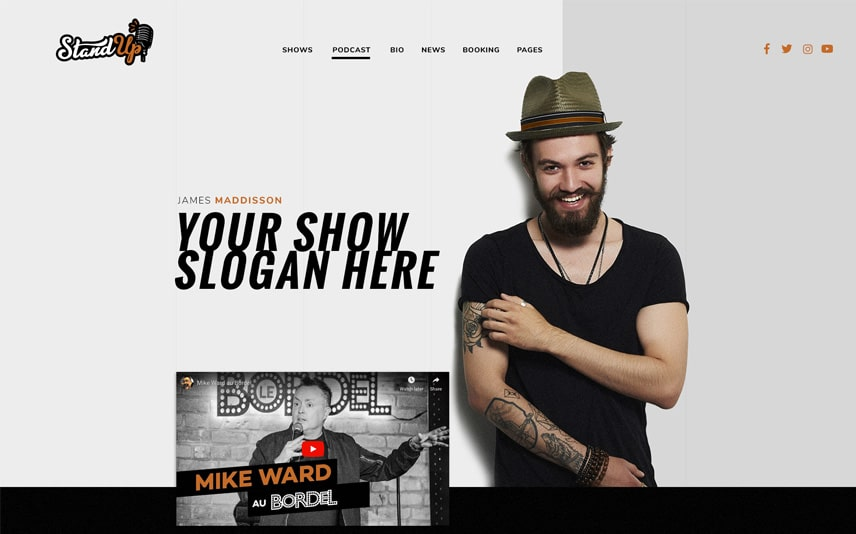 Stand Up Comedy WordPress Theme