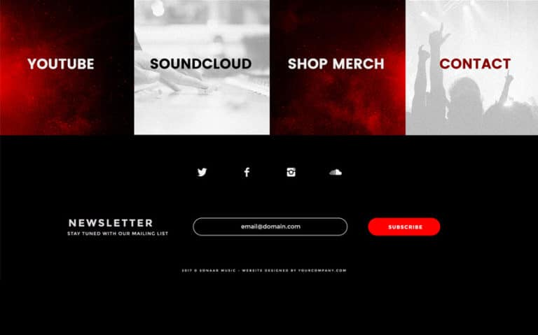 Music Producer Website Template