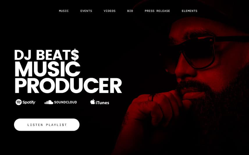 Best Music Producer and DJ WordPress Theme