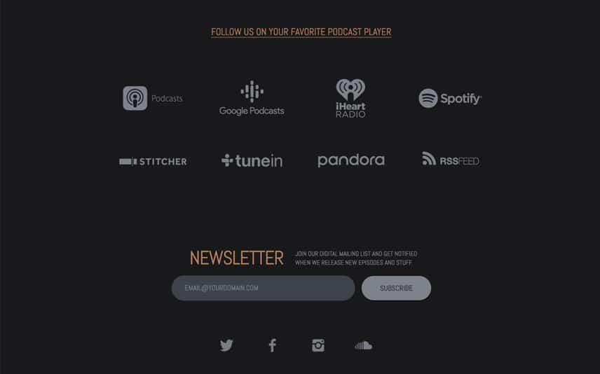 WordPress Theme for Podcasting