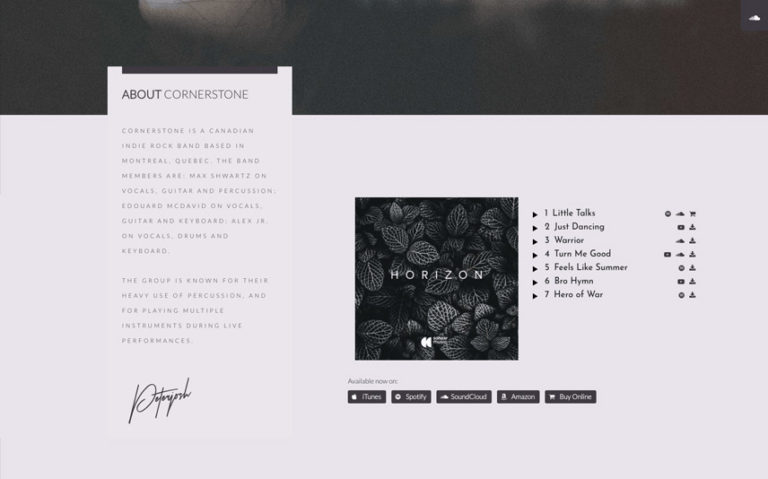Responsive WordPress Template pour Singer
