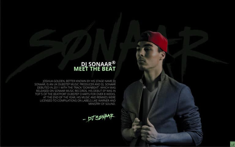 DJ, Hip-Hop WordPress Template with cool bio