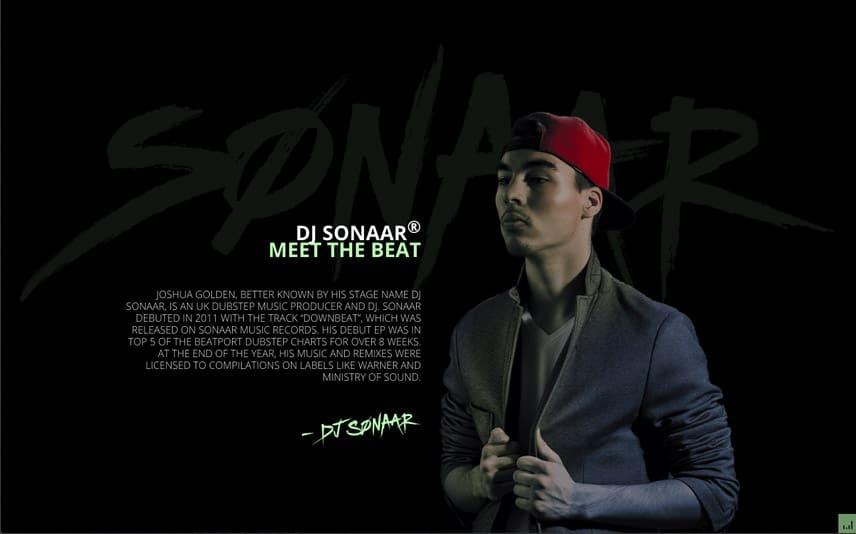 DJ, Hip-Hop WordPress Template with cool bio