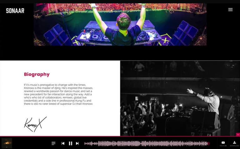 DJ Festival WordPress Theme