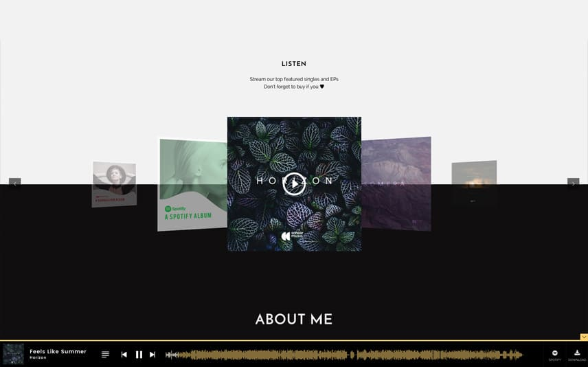 Singers and Musicians WordPress Theme with Gallery
