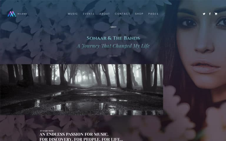 Singer WordPress Theme with AJAX audio