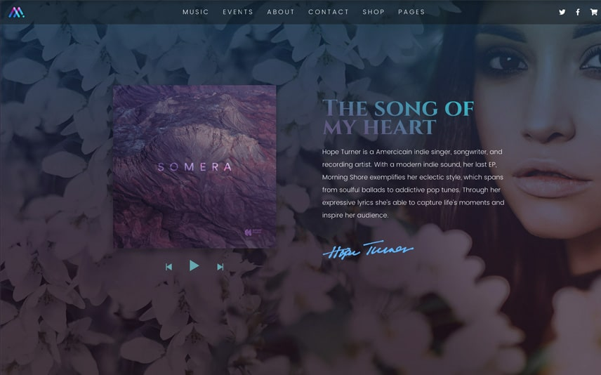 Singer WordPress Theme for Musician