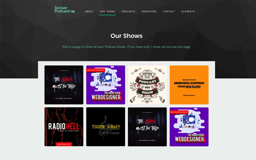 Responsive Podcast WordPress Template