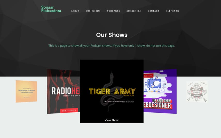 Podcast WordPress Theme with Podcast Network