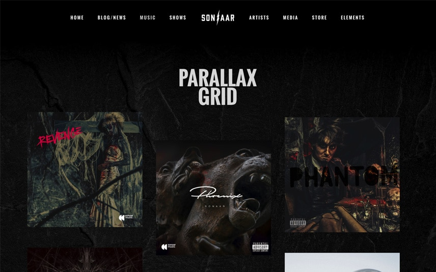 Skullz - Metal WordPress Theme for Music Bands