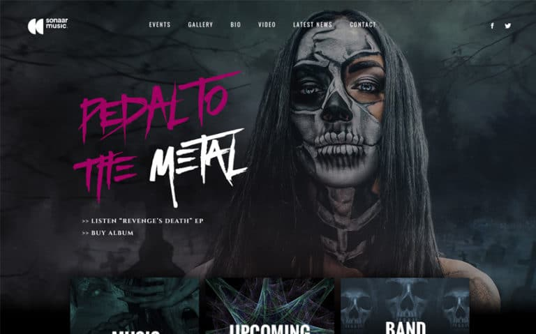 Best Rock WordPress Theme for Music Bands