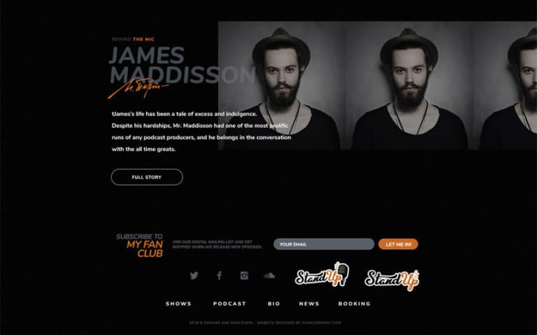 Standup Comedy WordPress Theme