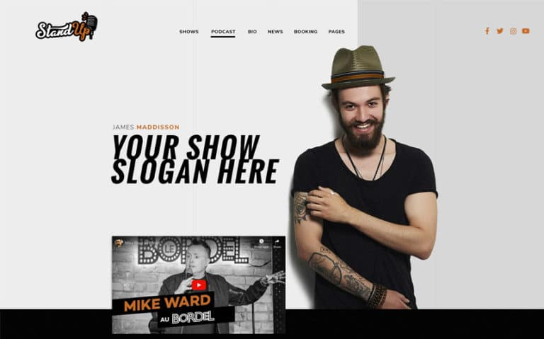 Stand up WordPress thème
