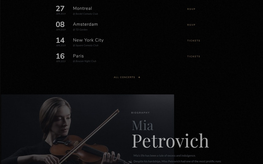 Violin WordPress Theme