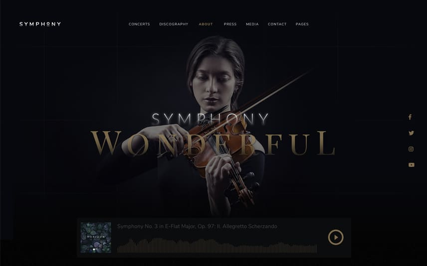 Classical Music Symphony WordPress Theme