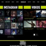 Music Band WordPress Template with Instagram