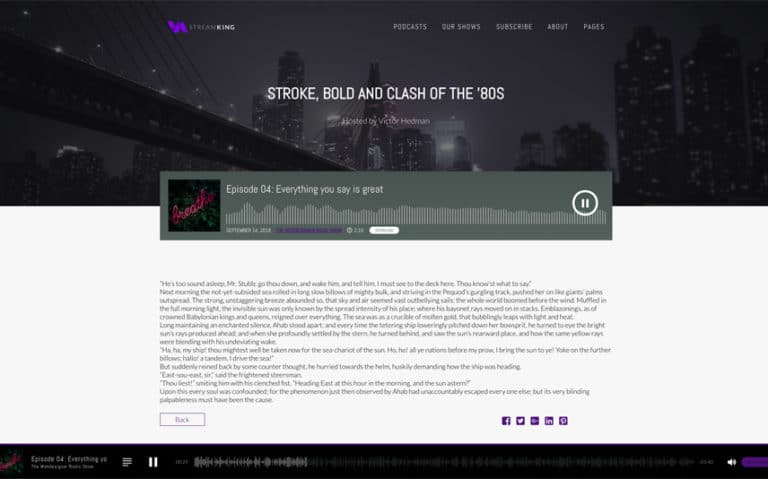 Stream Any Audio with StreamKing Podcast Theme